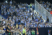 Supporters of Real Sociedad in action during the spanish league, La Liga, football match between Leganes and Real Sociedad on August 24, 2018 at Butarque stadium in Leganes, Madrid, Spain, Photo by Irina RH / SpainProSportsImages / DPPI / ProSportsImages / DPPI