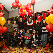 13.02.2018.<br /> University of Limerick International Office Chinese New Year Celebrations, Chungs Chinese Cuisne Castletroy. <br />  Pictured at the event were UL International Students. Picture: Alan Place