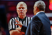 CHAMPAIGN, IL - DECEMBER 08: NCAA basketball official  Eric Curry talks with Head coach Marvin Menzies of the UNLV Rebels during the game against the Illinois Fighting Illini at State Farm Center on December 8, 2018 in Champaign, Illinois. (Photo by Michael Hickey/Getty Images) *** Local Caption *** Eric Curry; Marvin Menzies