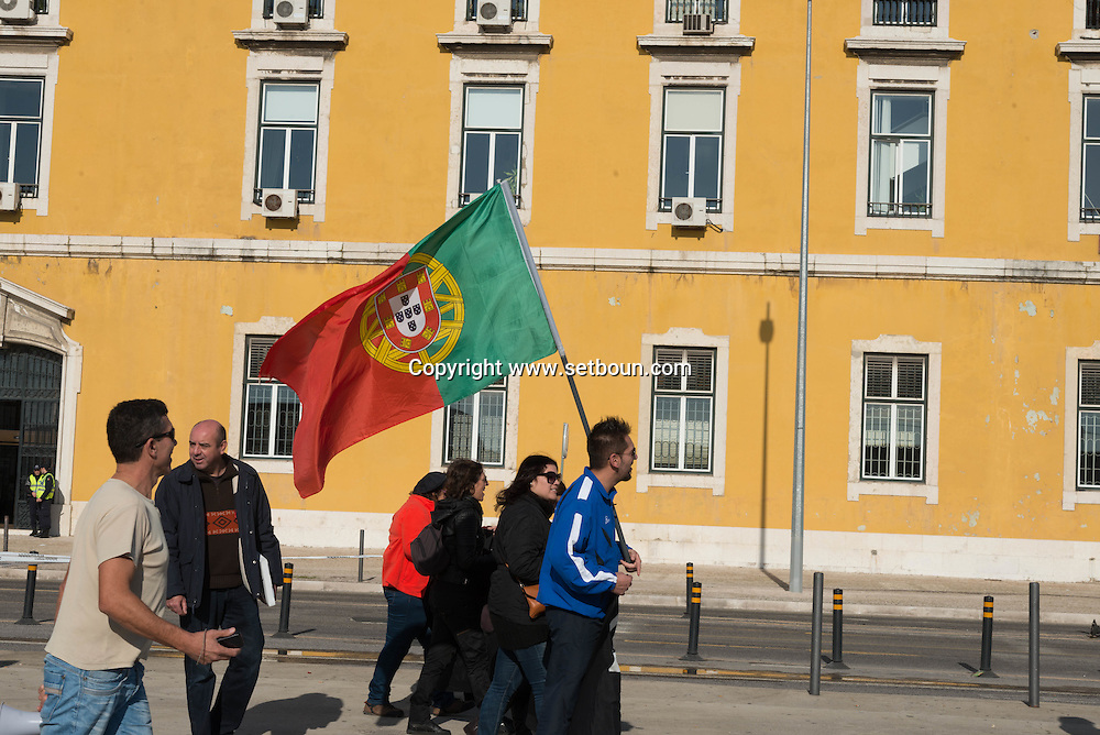 Portugal. Lisbon. demonstration against austerity