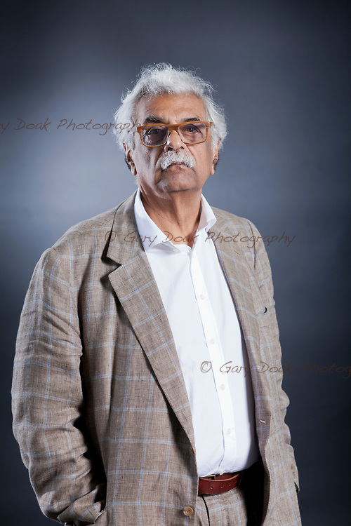 Tariq Ali, the British-Pakistani writer, appearing at the Edinburgh International Book Festival. Edinburgh, Scotland.<br /> 12th August 2017<br /> Picture by Gary Doak