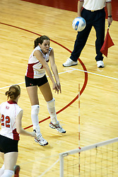 26 Aug 2005<br /> <br /> Manoela DaCunha gets under the incoming ball.<br /> <br /> The Illini beat the Redbirds in the seasons opener for both team in 5 games 30-24, 30-19, 23-30, 30-21, 15-11.  Redbird Areana, Illinios State University, Normal, IL