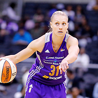 18 May 2014: Phoenix Mercury guard Erin Phillips (31) sets the offense during the Phoenix Mercury 74-69 victory over the Los Angeles Sparks, at the Staples Center, Los Angeles, California, USA.