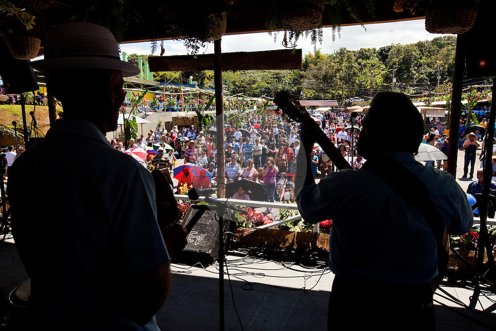 Singing contest at the Maricao Coffee Festival in the highlands of Puerto Rico.