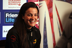 ©Licensed to London News Pictures. 06/05/2014<br /> Kettering Hotel, Kettering, Northamptonshire . Lizzie Armitstead at The Friends Life Womens Tour of Britain press conference.<br /> Photo credit: Steven Prouse/ LNP