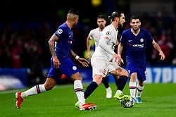 Yusuf Yazici of Lille is marked by Emerson Palmieri of Chelsea - Mandatory by-line: Ryan Hiscott/JMP - 10/12/2019 - FOOTBALL - Stamford Bridge - London, England - Chelsea v Lille - UEFA Champions League group stage