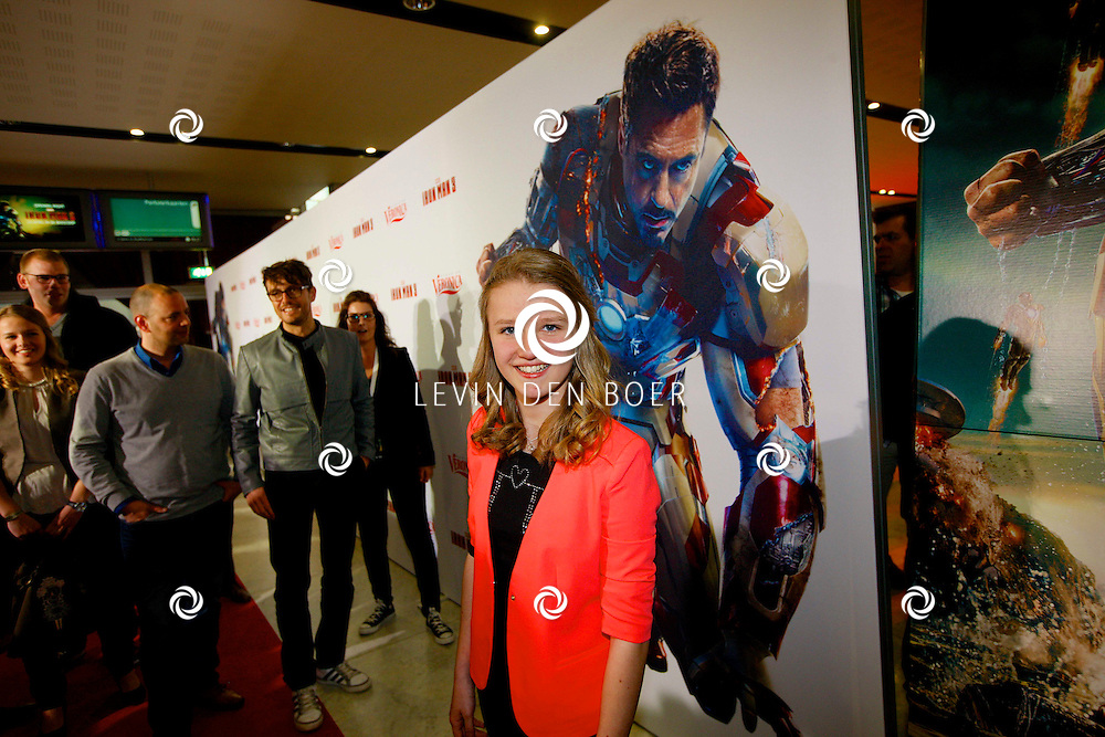 AMSTERDAM - In het Rai theater is de filmpremiere van Iron Man 3. Met op de foto  Laura van Kaam. FOTO LEVIN DEN BOER - PERSFOTO.NU