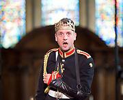 Antic Disposition present<br /> Richard III<br /> by William Shakespeare<br /> at the Temple Church, London, Great Britain <br /> Press photography <br /> 23rd August 2017 <br /> <br /> Toby Manley as Richard III<br /> <br /> <br /> <br /> <br /> &nbsp;<br /> Directors<br /> Ben Horslen<br /> John Risebero<br /> Designer<br /> John Risebero<br /> Lighting Designer<br /> Tom Boucher<br /> &nbsp;<br /> Composer<br /> James Burrows<br /> &nbsp;<br /> Fight Director<br /> Bethan Clark&nbsp;of Rc-Annie Ltd.<br /> &nbsp;<br /> Stage Manager<br /> Damien Stanton<br /> &nbsp;<br /> Technical Stage Manager<br /> Angus Chisholm<br /> <br /> Photograph by Elliott Franks <br /> Image licensed to Elliott Franks Photography Services