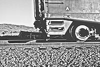 Train passes through Drawbridge, a ghost town within Don Edwards San Francisco Bay National Wildlife Refuge, in Alviso, CA.  Copyright 2012 Reid McNally.
