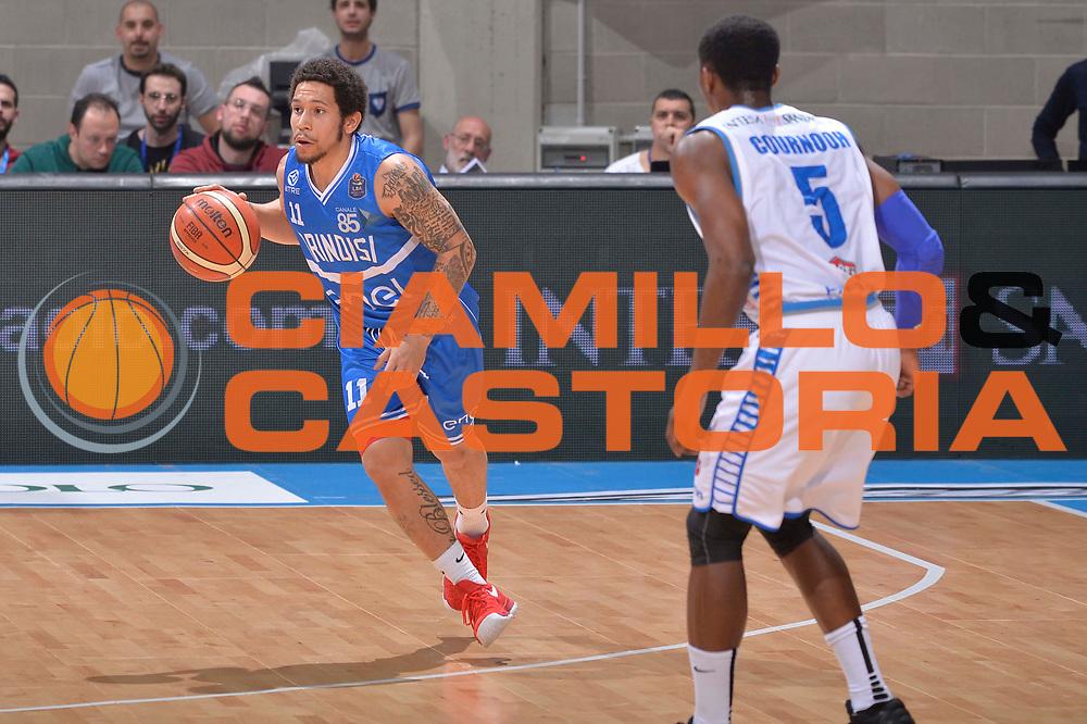 Nic Moore<br /> Mia Cantu - Enel New Basket Brindisi<br /> Lega Basket Serie A 2016/2017<br /> Desio, 19/03/2017<br /> Foto Ciamillo - Castoria