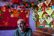 "Portrait of Stephan nicknamed ""Longa"" in his home at the Roma settlement located at ""Budulovska Street"" in Moldava nad Bodvou about 30 km from Kosice. A few months later the little house of Stephan was empty, he passed away in the end of 2014 by a serious illness."