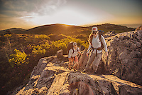 Couple backpacking, hiking and camping in Virginia's grayson highlands and mount rogers. Women woman hiking, biking, backpacking, adventuring, camping, paddle boarding outdoors,
