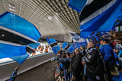 17.03.2019, Merkur Eisstadion, Graz, AUT, EBEL, Moser Medical Graz 99ers vs EHC Liwest Black Wings Linz, Viertelfinale, 3. Spiel, im Bild Fans // during the Erste Bank Icehockey 3rd quarterfinal match between Moser Medical Graz 99ers and EHC Liwest Black Wings Linz at the Merkur Eisstadion in Graz, Austria on 2019/03/17. EXPA Pictures © 2019, PhotoCredit: EXPA/ Dominik Angerer
