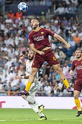 September 19, 2018 - Madrid, Spain - A.S.Roma Kostas Manolas during UEFA Champions League match between Real Madrid and A.S.Roma at Santiago Bernabeu Stadium in Madrid, Spain. September 19, 2018. (Credit Image: © Coolmedia/NurPhoto/ZUMA Press)