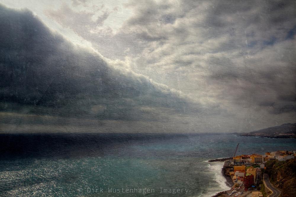 Cloud formation near the east coast of La Palma/ Canary Islands