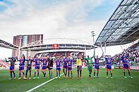 UTRECHT - FC Utrecht - Feyenoord , Voetbal , Seizoen 2015/2016 , Eredivisie , Stadion de Galgenwaard  , 28-02-2016, Feyenoord bedankt supporters na de overwinning met 1-2
