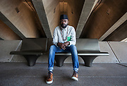 Arts Portrait of Nigerian-British poet, playright and performer Inua Ellams in Sydney on Saturday the 2nd of September, 2017 Arts SMH and Age, Picture by FIONA MORRIS
