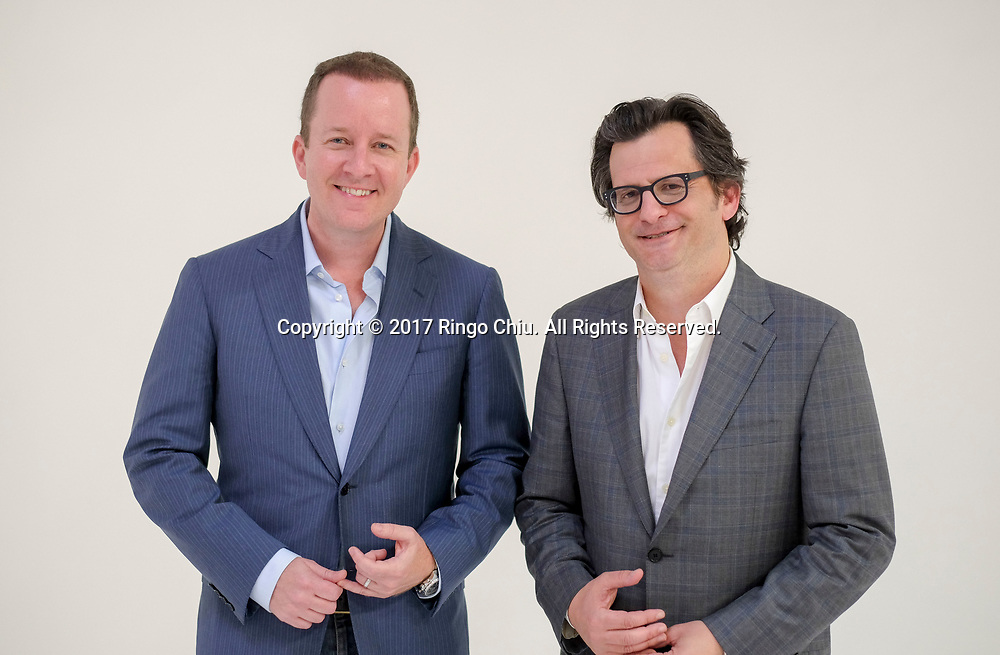 Andrew Jameson, left, and Ben Mankiewicz of Path Content Group.(Photo by Ringo Chiu)<br /> <br /> Usage Notes: This content is intended for editorial use only. For other uses, additional clearances may be required.