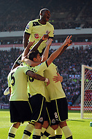 Football - Premier League - Sunderland vs.  Newcastle United<br /> Newcastle celebrate Yohan Cabaye's goal at the Stadium of Light