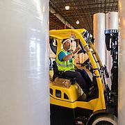 RORO vessels loading and unloading at Colonel's Island, Grain silos and warehouse and auto import/export at the Georgia Ports Authority Port of Brunswick, Saturday, Aug. 17 2015, in Brunswick, Ga.  (GPA Photo/Stephen B. Morton)