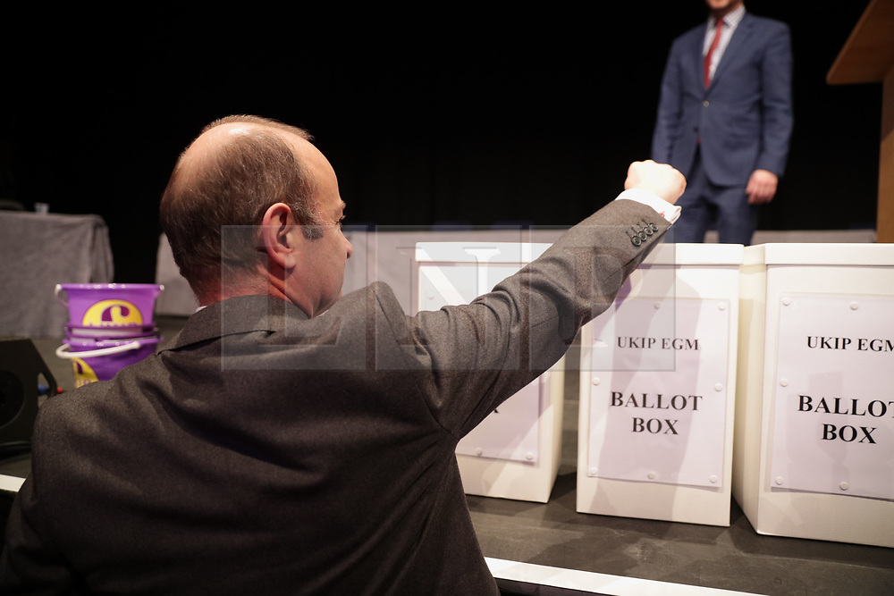 © Licensed to London News Pictures . 17/02/2018. Birmingham, UK. HENRY BOLTON  votes on whether to retain or dismiss Bolton as leader . The NEC of UKIP meet to decide leader Henry Bolton's fate as leader following a racism row over his girlfriend Jo Marney and controversy over his claimed qualifications whilst serving in the military . Photo credit: Joel Goodman/LNP