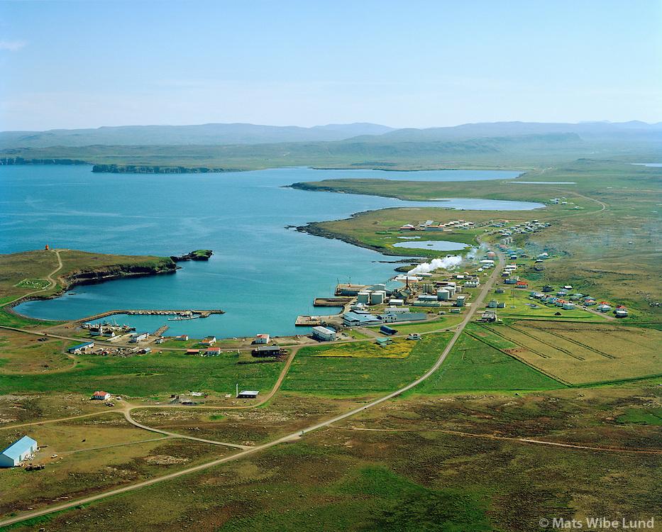 Raufarhöfn séð til suðurs, Norðurþing áður Raufarhafnarhreppur / Raufarhofn viewing south, Nordurthing former Raufarhafnarhreppur