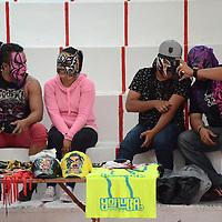 Toluca, México (Septiembre 11, 2016).- Con la participación de luchadores profesionales del Valle de Toluca, así como un exposicón de máscaras, la Unidad Deportiva Agustín Millán albergó la  Expo Lucha Libre en la capital mexiquense .Agencia MVT / Arturo Hernández.