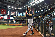 PHOENIX, AZ - JULY 26:  Ender Inciarte #11 of the Atlanta Braves walks to the one deck circle for the game against the against the Arizona Diamondbacks at Chase Field on July 26, 2017 in Phoenix, Arizona.  (Photo by Jennifer Stewart/Getty Images)