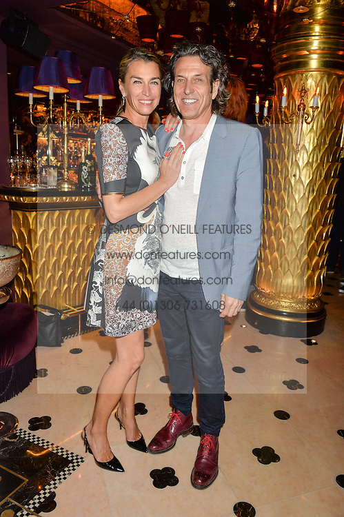 STEPHEN & ASSIA WEBSTER at a party to celebrate Pam Hogg receiving an honorary Doctorate from Glasgow University held at Park Chinois, 17 Berkeley Street, London on 11th July 2016.
