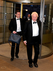 The Hunter Foundation Dinner, Edinburgh, 18 February 2020<br /> <br /> Sir David Attenborough was giving the talk at this year's Hunter Foundation Dinner<br /> <br /> Pictured:  Sir David Attenborough with BBC presenter Matt Baker<br /> <br /> Alex Todd | Edinburgh Elite media