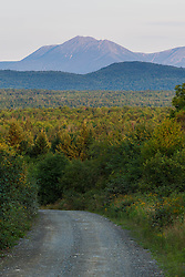 Mount Katahdin as seen from Staceyville, Maine.