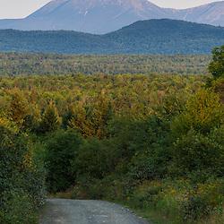 Mount Katahdin as seen from Staceyville, Maine.