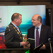 08/12/2015                <br /> Limerick City & County Council launches Ireland 2016 Centenary Programme<br /> <br /> An extensive programme of events across the seven programme strands of the Ireland 2016 Centenary Programme was launched at the Granary Library, Michael Street, Limerick, last night (Monday, 7 December 2015) by Cllr. Liam Galvin, Mayor of the City and County of Limerick.<br /> <br /> Led by Limerick City & County Council and under the guidance of the local 1916 Co-ordinator, the programme is the outcome of consultations with interested local groups, organisations and individuals who were invited to participate in the planning and implementation of events and initiatives during 2016.  <br /> <br /> Pictured at the event was Mayor of Limerick, Cllr. Liam Galvin and Damien Brady, 2016 Co-Ordinator. Picture: Alan Place