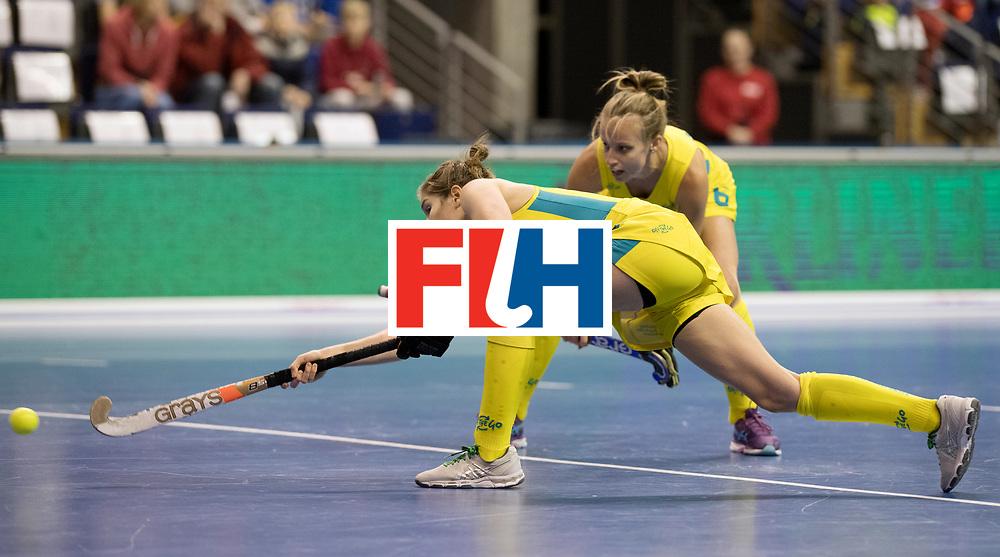 BERLIN - Indoor Hockey World Cup<br /> Quarterfinal 1: Belarus - Australia<br /> foto: <br /> WORLDSPORTPICS COPYRIGHT FRANK UIJLENBROEK