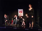 Bill Hurst, Joss Ing-Chambers, Julian Bird, Jagdeep Bhangoe and Kinvara Balfour, Dazed and Abused by Kinvara Balfour, the Canal Cafe theatre. London W2. 4 October 2004. ONE TIME USE ONLY - DO NOT ARCHIVE  © Copyright Photograph by Dafydd Jones 66 Stockwell Park Rd. London SW9 0DA Tel 020 7733 0108 www.dafjones.com