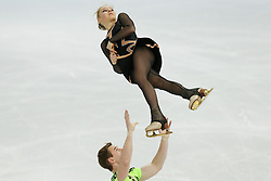The XXII Winter Olympic Games 2014 in Sotchi, Olympics, Olympische Winterspiele Sotschi 2014, Figure Skating, Pairs Short Program,<br /> Julia Lavrentieva and Yuri Rudyk (Ukraine)  *** Local Caption ***