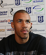 New Dundee forward Phil Roberts is introduced to the press at Dens Park<br /> <br />  - &copy; David Young - www.davidyoungphoto.co.uk - email: davidyoungphoto@gmail.com
