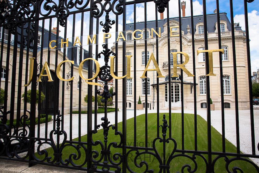 The house of Champagne Jacquart in Boulevard Lundy in Reims, Champagne-Ardenne, France