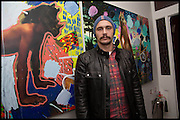 JAMES FRANCO, James Franco exhibition 'Fat Squirrel' at Siegfried Contemporary, Basset Rd, London W10. 23 November 2014.