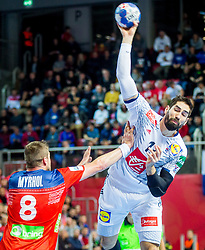 Nikola Karabatic of France during handball match between National teams of France and Norway on Day 1 in Preliminary Round of Men's EHF EURO 2018, on January 12, 2018 in Arena Zatika, Porec, Croatia. Photo by Ziga Zupan / Sportida