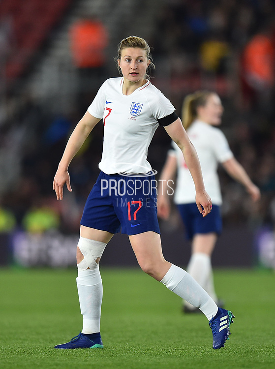Ellen White (17) of England during the FIFA Women's World Cup UEFA Qualifier match between England Ladies and Wales Women at the St Mary's Stadium, Southampton, England on 6 April 2018. Picture by Graham Hunt.
