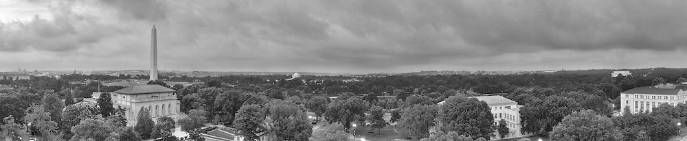 Panoramic View of Washington, DC.  Includes The Capitol, Washington Monument, Smithsonian Mall, Organization of American States, Jefferson Memorial, Reagan National Airport, and Lincoln Memorial. Print Sizes (inches) 15x3; 24x5; 36x7.5; 48x10; 60x12; 72x15