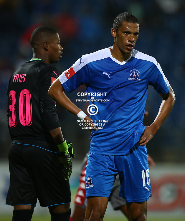 Bevan Fransman of Maritzburg Utd during the 2016 Premier Soccer League match between Maritzburg Utd and SuperSport United held at the Harry Gwala Stadium in Pietermaritzburg, South Africa on the 21st September 2016<br /> <br /> Photo by:   Steve Haag / Real Time Images