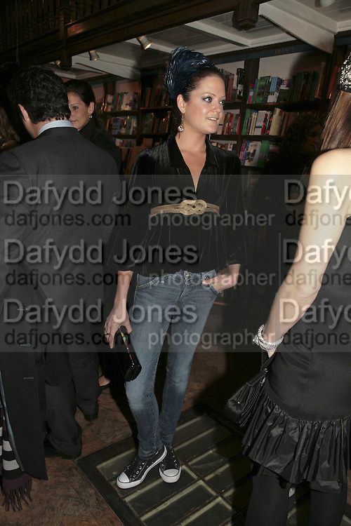 Lady Eloise Anson, Book launch of Pretty Things by Liz Goldwyn at Daunt <br />