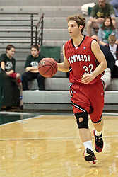 14 March 2014:  Brian Gerney during an NCAA mens division 3 quarter final basketball game between the Dickinson Red Devils and the Wheaton Thunder in Shirk Center, Bloomington IL