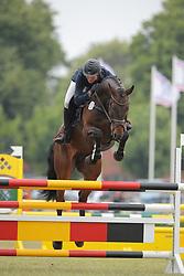 Magens, Jessica, Nautilus<br /> Elmshorn - Holsteiner Pferdetage<br /> Springen Klasse M Finale 5j.<br /> © www.sportfotos-lafrentz.de/ Stefan Lafrentz