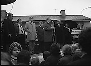 Image of Fianna Fáil leader Charles Haughey touring West Cork during his 1982 election campaign...04/02/1982.02/04/82.4th February 1982..Looking back:..Charles Haughey pitching his stall to the West Cork electorate while a child in the crowd stares back toward the camera. ..