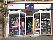 Age Concern charity shop, Felixstowe, Suffolk, England