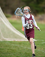 Lakes Region Lacrosse versus Oyster River U11 girls game Saturday, April 22, 2012.