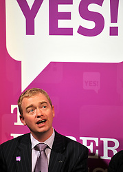 ** FILE PIC - Tim Farron has been elected leader of the Liberal Democrat Party** © licensed to London News Pictures. LONDON UK. 27/04/11. Tim Fallon. A News conference held today (27 April 2011) in Church House, London. The conference was introduced by Katie Ghose with Lib Dem President Tim Farron, Green Party Leader Caroline Lucas, UKIP leader Nigel Farage and  Labour's  Alan Johnson, supporting a Yes for the Alternative Vote. Photo credit should read Stephen Simpson/LNP